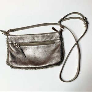 Tommy Bahama metallic leather crossbody bag